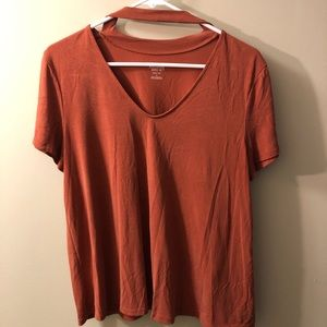 Mossimo Cut Out Neck T-shirt